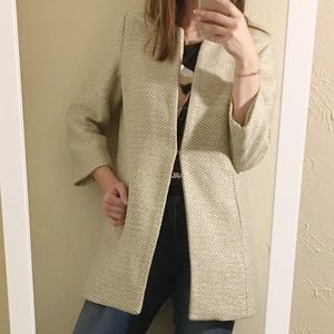 Mercer and Madison coat cream and gold